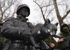 """Żołnierz z małym kotkiem. W Rosji stanął pierwszy pomnik """"zielonego ludzika"""""""