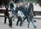 15 rannych po ataku separatyst�w na ukrai�sk� demonstracj� w Doniecku
