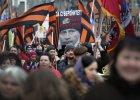 Moskwa. Demonstracja poparcia dla rosyjskich dzia�a� wojskowych na Ukrainie