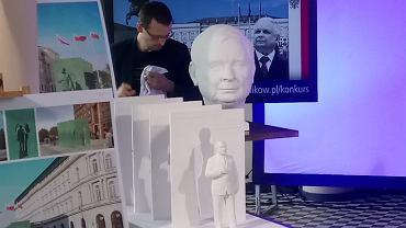 Makieta pomnika Lecha Kaczyńskiego