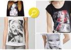 Z twarzą Marilyn Monroe - ubrania z gwiazdami