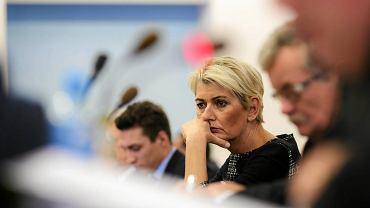 Jolanta Urbańska, radna PO, podczas sesji rady miasta Częstochowy