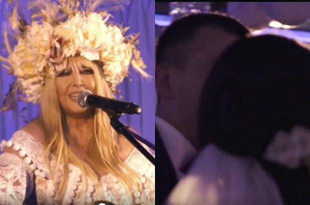 """Maryla Rodowicz zrobiła nowożeńcom niespodziankę. Pojawiła się na weselu w Celestynowie i zaśpiewała """"Małgośkę"""". Zaskoczona para młoda była zachwycona, ale internauci komentują, że gwiazda fatalnie dobrała piosenkę."""