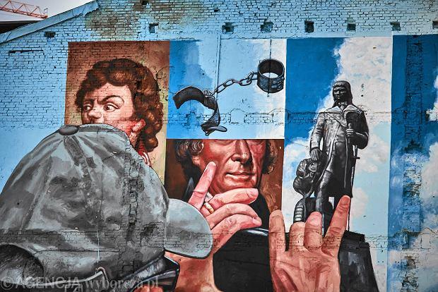 Zdjęcie numer 1 w galerii - Murale w Łodzi. Kościuszko i Jefferson w centrum [ZDJĘCIA]
