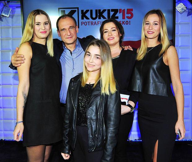 Paweł Kukiz z rodziną