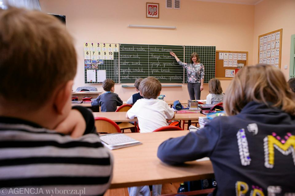 Lekcja w szkole podstawowej