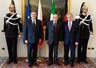 Prezydenci Polski, W�och i Niemiec: Unia dogada si� ws. bud�etu. Komorowski: Polska gotowa na euro w 2015 r.