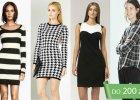 Naj�adniejsze czarno-bia�e ubrania z jesiennych kolekcji - do 200 z�