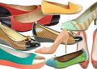 Buty z kolorowymi czubkami