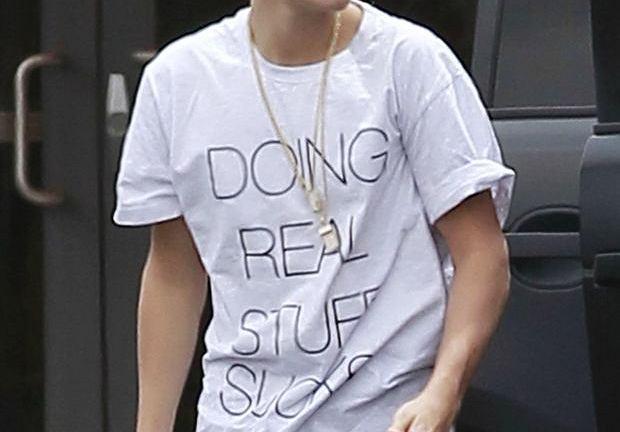 Justin Bieber w koszulce z kolekcji Local Heroes