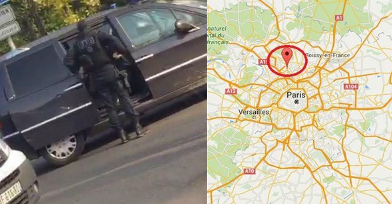 Przedmieścia Paryża: policja otoczyła mężczyznę, który twierdzi, że ma bombę