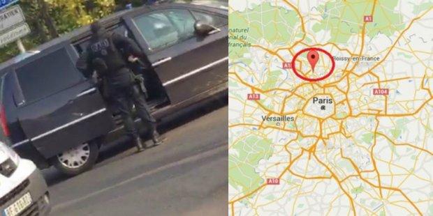 Przedmie�cia Pary�a: policja otoczy�a m�czyzn�, kt�ry twierdzi, �e ma bomb�