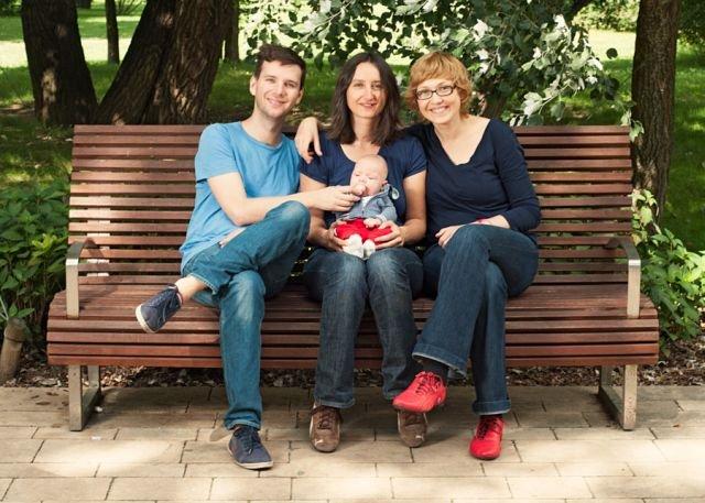 Leszek, Marta, Ania. I ich syn Mateusz