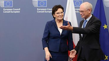 Herman Von Rompuy i Ewa Kopacz