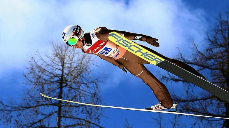 Kamil Stoch podczas zawodów w Planicy