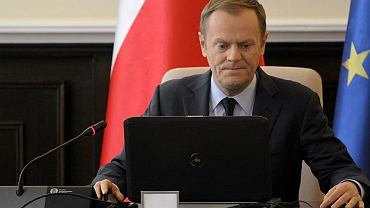Premier Donald Tusk podczas posiedzenia rządu