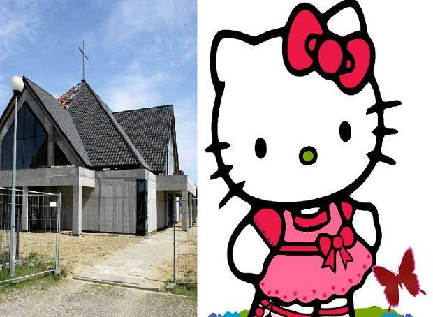 Nowy ko�ci� parafii p.w. �w. Teresy od Dzieci�tka Jezus oraz wizerunek Hello Kitty