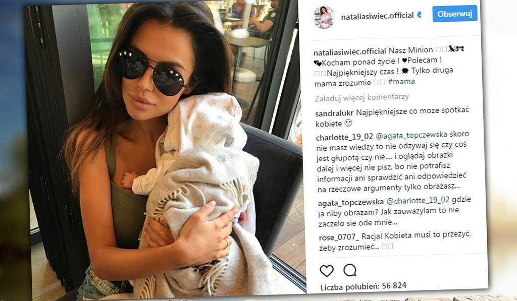 Natalia Siwiec została skrytykowana za to, w jaki sposób trzyma dziecko.