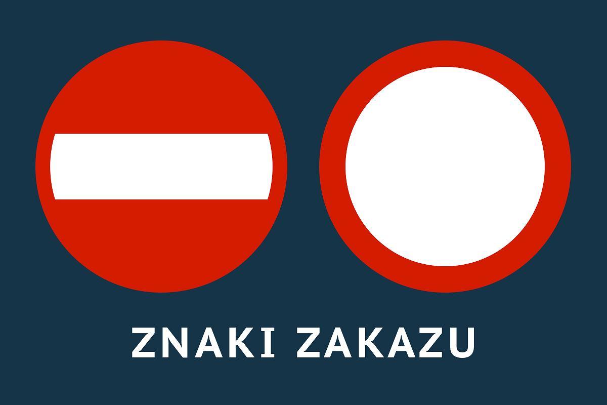 Znaki zakazu - Znaki drogowe 2017