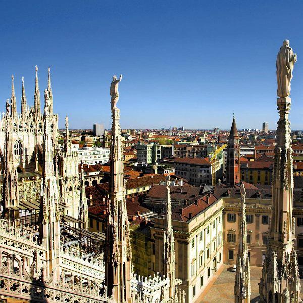 Panorama miasta z dachu Duomo