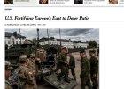 """""""NYT"""": USA chcą dozbroić Europę Wschodnią, by zniechęcić Rosję do dalszej agresji"""