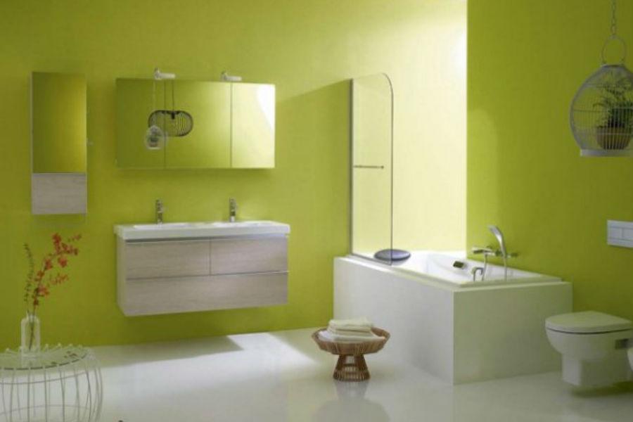 Soczysta zieleń w łazience - jakie dodatki?