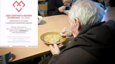 Dzięki akcji 'Podzielmy się' nadmiar świątecznego jedzenia możesz przekazać potrzebującym