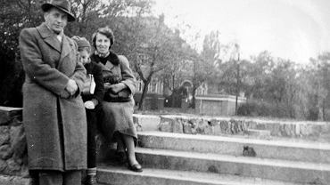 Teodor Dziabas z żoną i córką