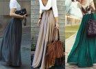 Stylizacje ze spódnicami maxi