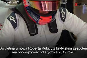 Wielki powrót Kubicy do Formuły 1! Będzie reprezentował barwy Williamsa