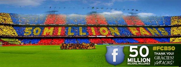 FC Barcelona pierwszym klubem z 50 mln fanów na FB