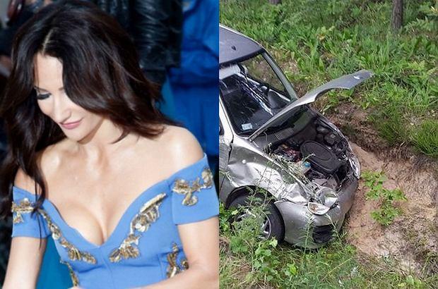Auto Justyny Steczkowskiej prowadzone przez jej menedżera brało udział w wypadku drogowym. Piosenkarka siedziała na fotelu pasażera.