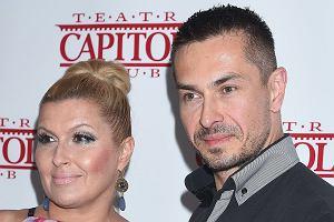Katarzyna Skrzynecka z mężem na premierze spektaklu 'Dwie pary do pary'