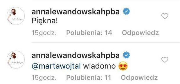 Anna Lewandowska skomentowała zdjęcie Pauliny Krupińskiej