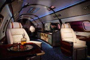Najbardziej luksusowy prywatny odrzutowiec na świecie. W środku jest jak na jachcie
