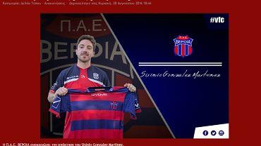 Sisi, były piłkarz Lecha Poznań, z koszulką AS Veria