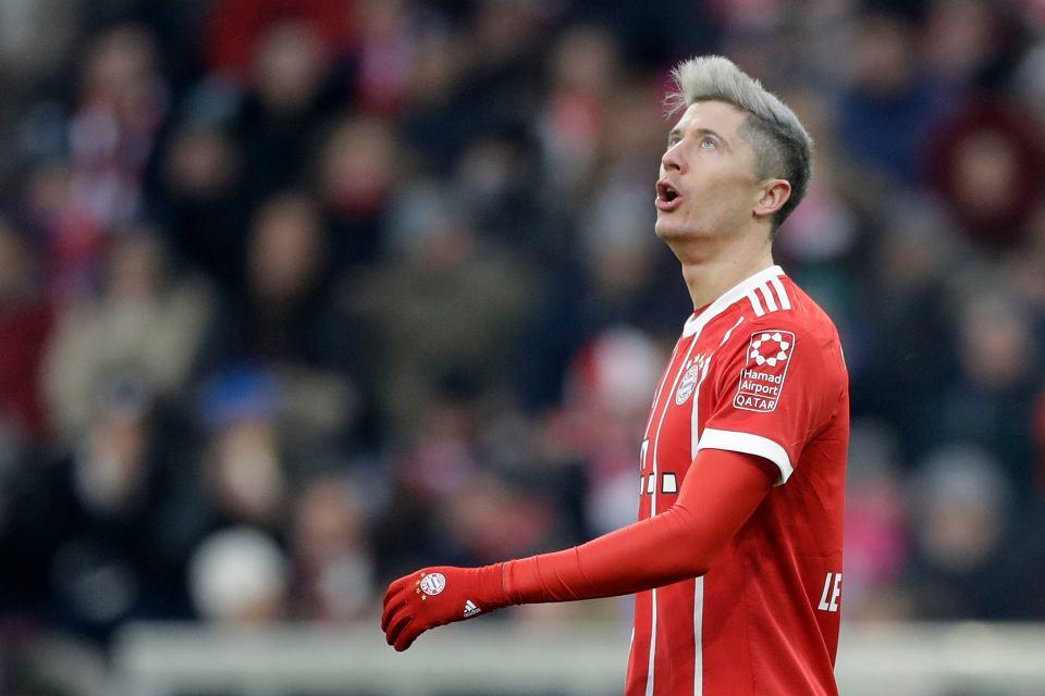 Robert Lewandowski. Bayern - PSG, Liga Mistrzów