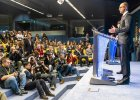 Ukraiński premier Arsenij Jaceniuk podczas szczytu UE w Brukseli