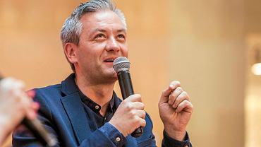 Robert Biedroń, prezydent Słupska promował swoją książkę 'Pod prąd' w rzeszowskim Empiku