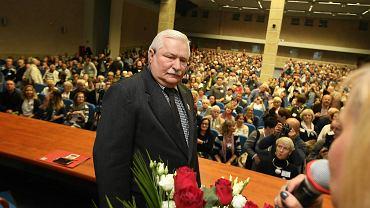 Spotkanie z Lechem Wałęsą w Szczecinie w ramach akcji 'Wyborcza na żywo' (październik 2016)