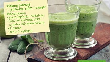 Zielony koktajl pobudza ciało i umysł
