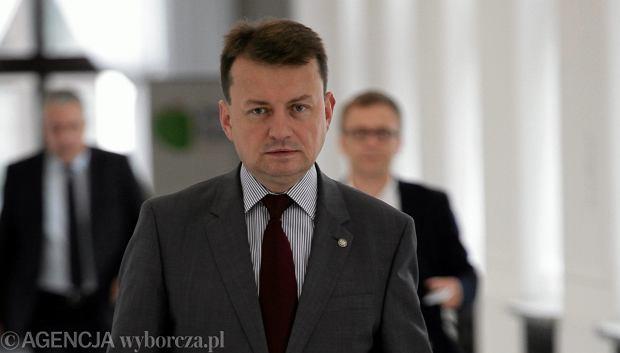 Szef MSWiA Mariusz B�aszczak