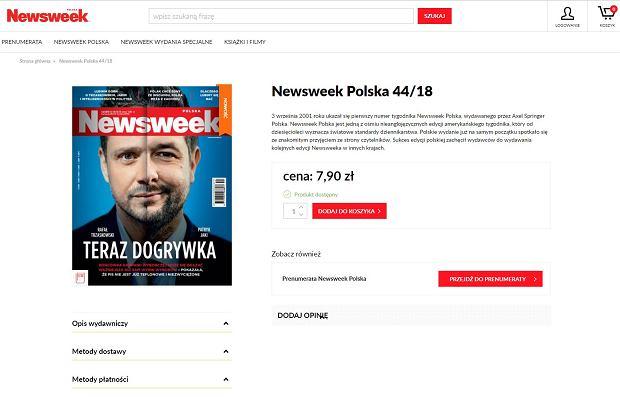 Okładka nowego 'Newsweeka'