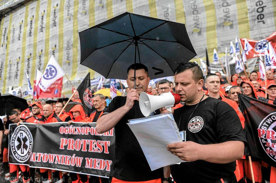 Ogólnopolski protest ratowników medycznych, 24 maja 2017