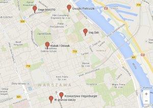 Mapa warszawskich restauracji wegetariańskich
