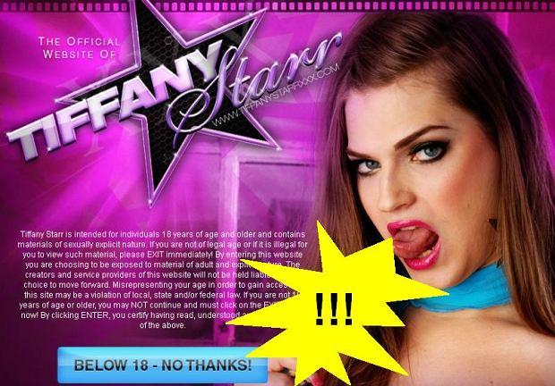Witryna aktorki Tiffany Starr