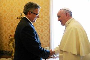Prezydent Komorowski na audiencji u papie�a Franciszka