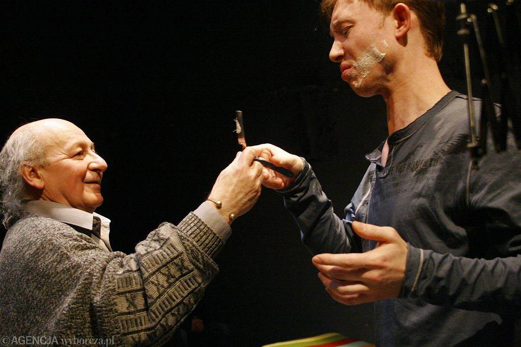 Jerzy Łapiński i Rafał Mohr w spektaklu
