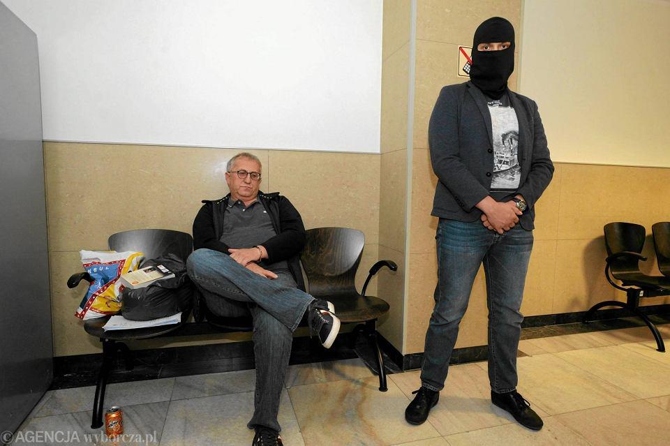 Były prezes GA ZCh Police Krzysztof Jałosiński podczas posiedzenia aresztowego w szczecińskim sądzie