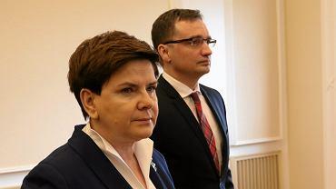 Premier Beata Szydło wystąpiła na wspólnej konferencji prasowej z ministrem sprawiedliwości Zbigniewem Ziobro